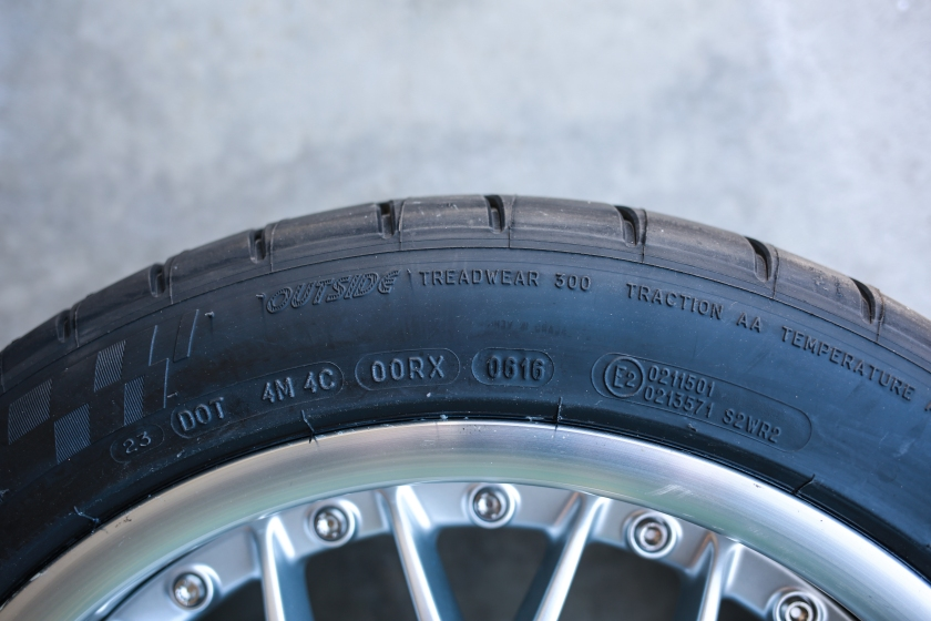 New Tire Sidewall Rating